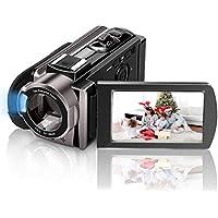 ビデオカメラ Kenuo デジタルビデオカメラ HD1080P 3.0インチ液晶ディスプレイ 270度回転スクリーン 16倍デジタルズーム バッテリー*2 (1080P)