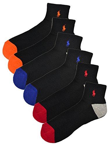(ポロ ラルフローレン) POLO RALPH LAUREN メンズ 靴下 ( 6足セット ) アーチサポート アンクル ソックス 黒 [25.0cm-30.0cm] [824006PK4BKAST] [並行輸入品]