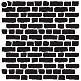 Rough Bricks Stencil by StudioR12 | Repeating Pattern Art - Mini 4 x 4-inch Reusable Mylar Template | Painting, Chalk, Mixed