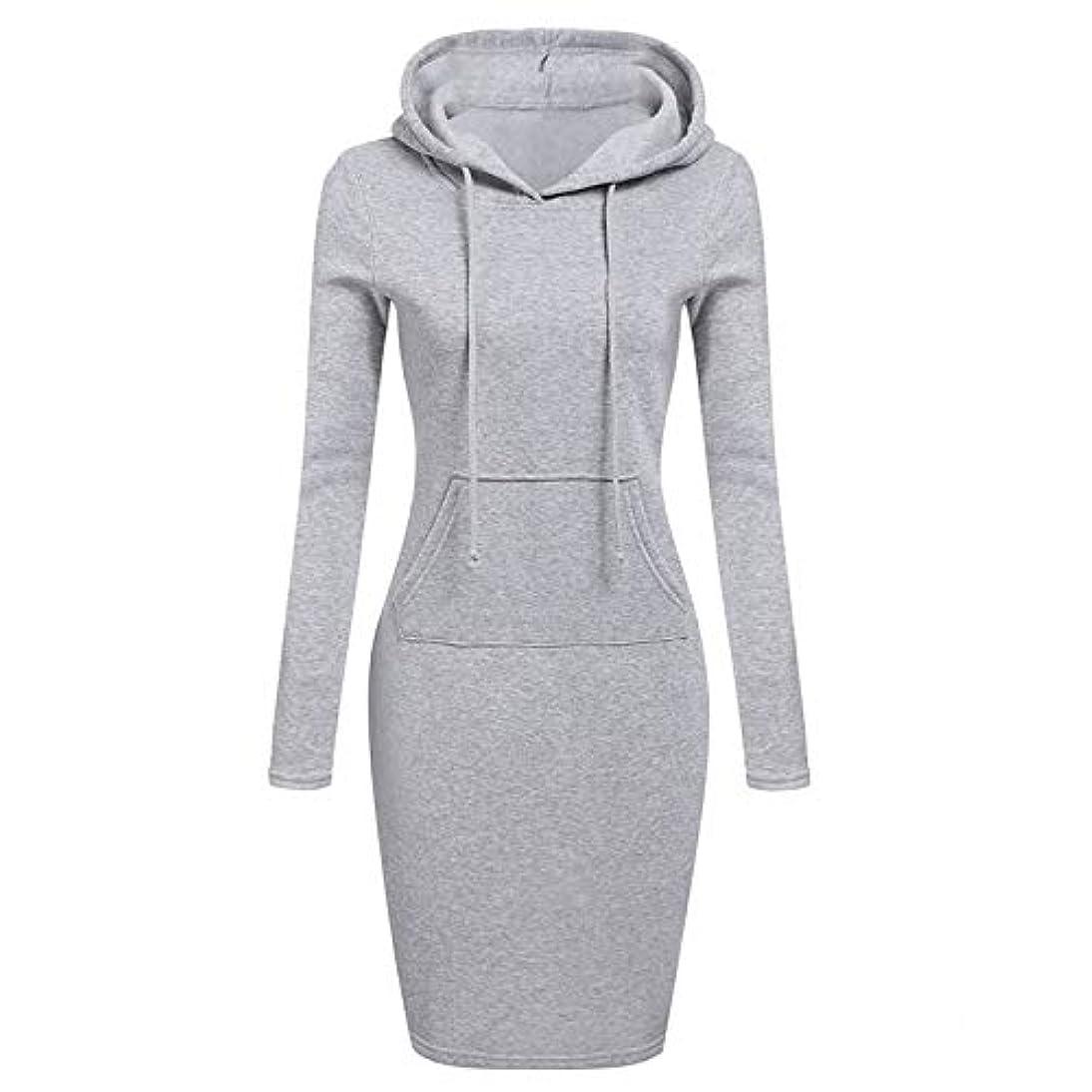 マイク干渉干渉Onderroa - ファッションフード付き巾着フリースの女性のドレス秋冬はドレス女性Vestidosパーカースウェットシャツドレスを温めます