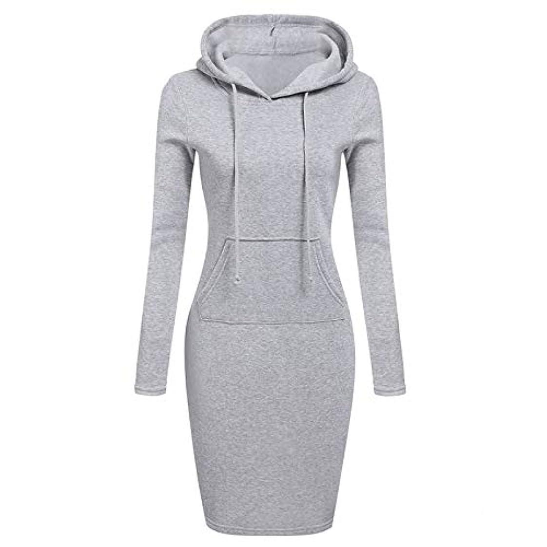 規範規範考えたOnderroa - ファッションフード付き巾着フリースの女性のドレス秋冬はドレス女性Vestidosパーカースウェットシャツドレスを温めます