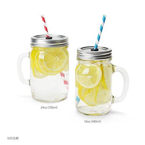 REDNEK HANDLED GLASS MUG 16oz 2Pcs  Ball MAIOSN Jar レッドネックハンドルグラスマグ 16oz ¥480ml ボール社 メイソンジャー USA製