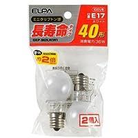 (まとめ買い) ELPA 長寿命ミニクリプトン球 GKP-362LH(W) 【×5】