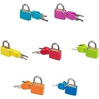 SONONIA 7個セット 旅行 7色 荷物 スーツケース用 南京錠 鍵 キー ロック
