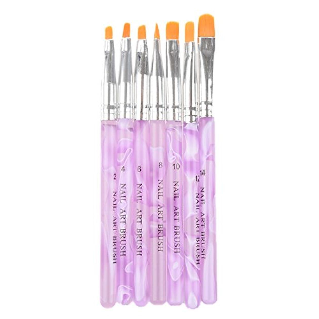 変化する鉛筆用心深いCikuso 7 個 UVジェルアクリルネイルアートのブラシペンツー