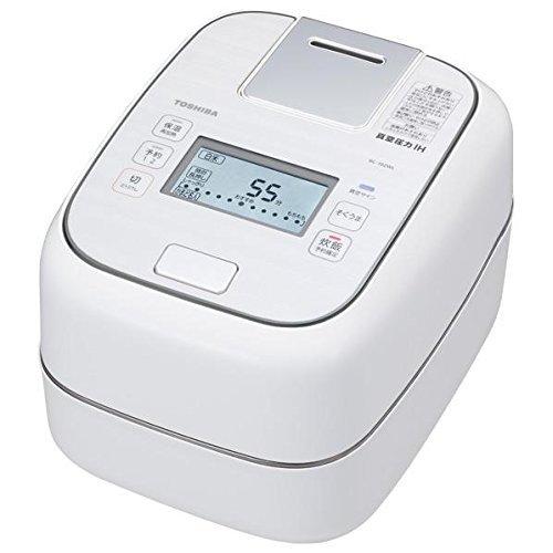 東芝 真空圧力IHジャー炊飯器(5.5合炊き) グランホワイト...
