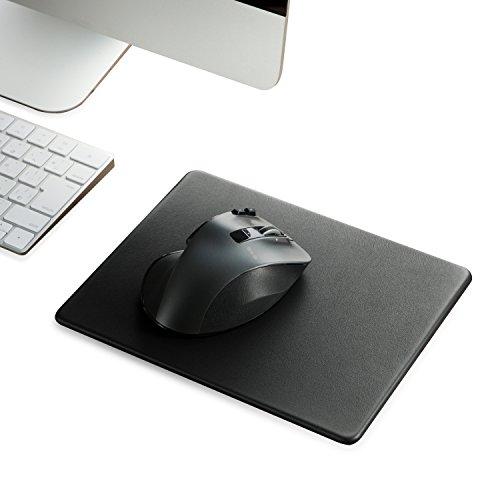 エレコム マウスパッド 大型 XLサイズ 高級感のあるレザー調 ズレにくい吸着タイプ ブラック MP-SL02BK