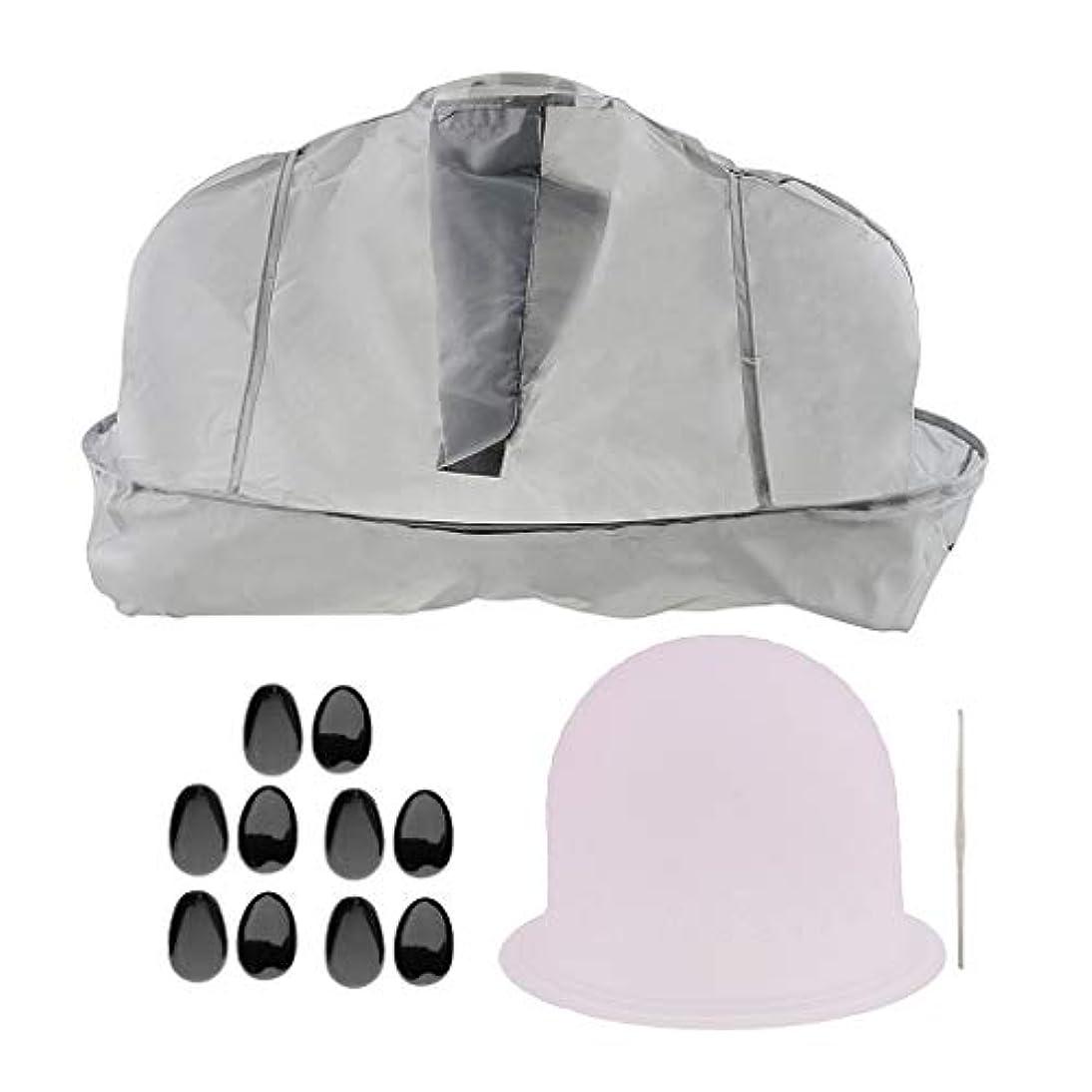 養う可愛いインドF Fityle ヘアティントキャップ メタルフック 美容ケープ 髪染め耳カバー サロン