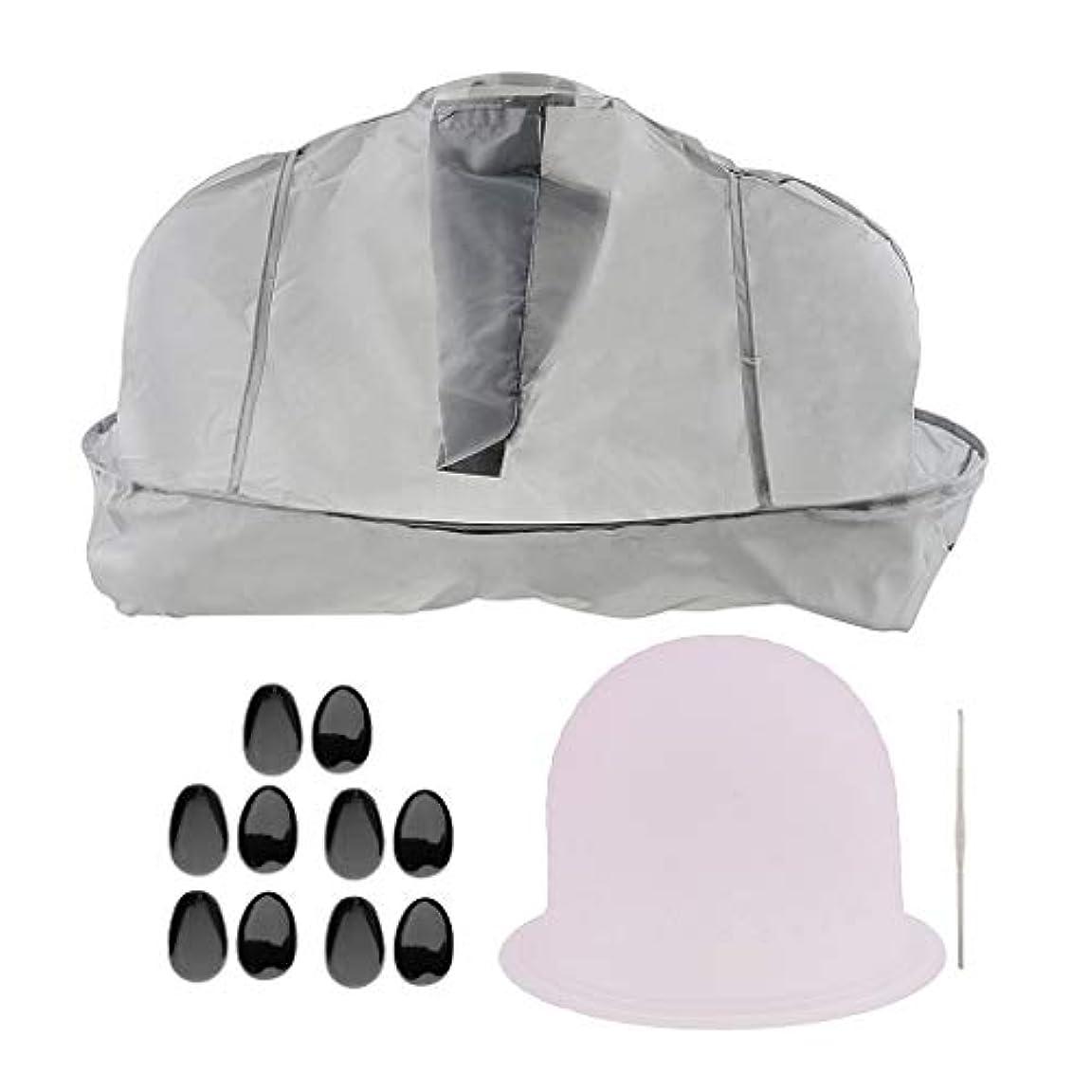 スピンアパルベリF Fityle ヘアティントキャップ メタルフック 美容ケープ 髪染め耳カバー サロン
