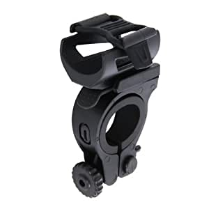 DOPPELGANGER ヘッドライトブラケット 取付可能径13~26mm 取付可能ライト径22~30mm 軽量40g DLST01-BK