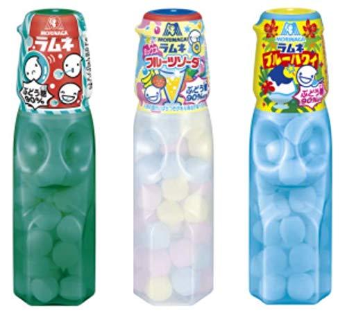 port townオリジナル 森永製菓 ラムネ 3種計20個セット(ラムネ・ミックスフルーツソーダ・ブルーハワイ)