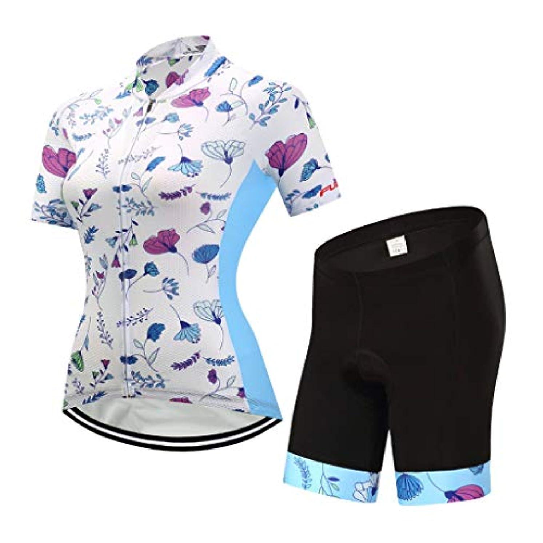 記事まばたき幸運なことに女性の半袖トップ夏のサイクリングスーツプロフェッショナル保護サイクリングクッション (色 : 2, サイズ さいず : S s)