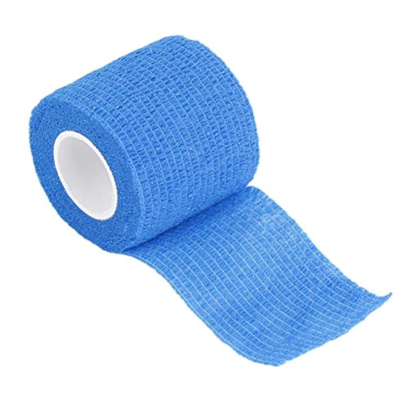 DeeploveUU 5センチ* 4.5メートル不織布自己接着包帯ラップ弾性接着剤応急処置テープストレッチ肘膝パッド