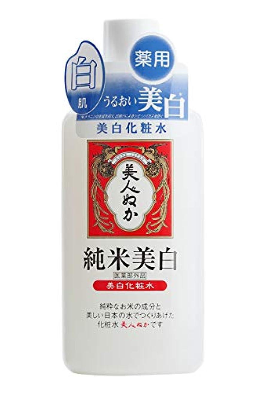 の前で細部不規則性美人ぬか 純米美白化粧水 (医薬部外品) 130mL