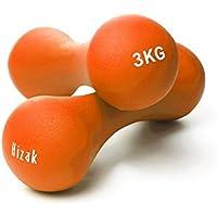 【 錆びない やわらか加工 】Hizak ダンベル 1kg 2kg 3kg 4kg 5kg PVCコーティング