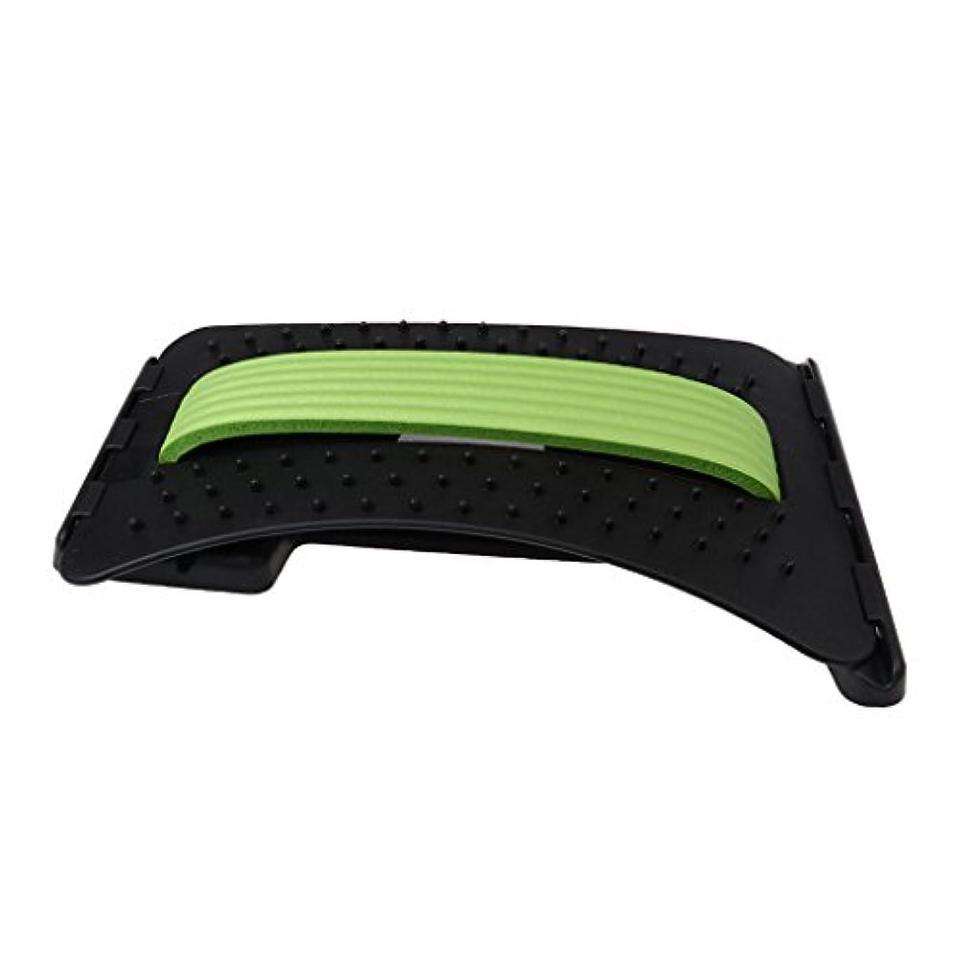情緒的信頼できる辞任Baosity バックストレッチャー 3段階調整 ABS製 リラックス ユニーク デザイン 3色選べる - 緑