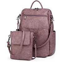 UTO Women Backpack Purse PU Washed Leather Ladies Rucksack Shoulder Bag