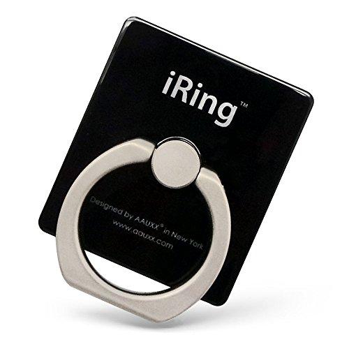 AAUXX 正規代理店品 iRing 車載ホルダーになるフック付 iPhone スマートフォン タブレット スタンド スマホリング シャインブラック