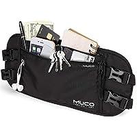 muco Money Belt Travel, Hidden Passport Holder, RFID Blocking Travel Wallet Women Men
