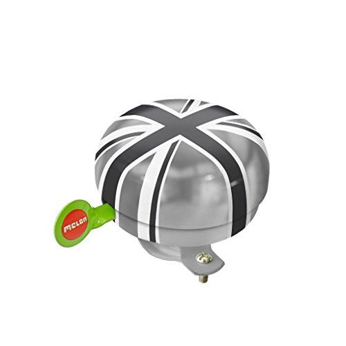 Melon Helmets(メロンヘルメット) 自転車ベル ステンレススチール製 60×60mm ユニオンジャックブラック EBMH3011 バリエーション不要