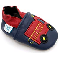 Dotty Fish Soft Sole Leather Baby Shoes. Prewalker. 4-5 Years. Fire Truck.
