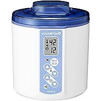TANICA 温度調節(25~70℃) ・タイマー・ブザー付ヨーグルトメーカー ヨーグルティアS 1200ml YS-01 (ブルー)