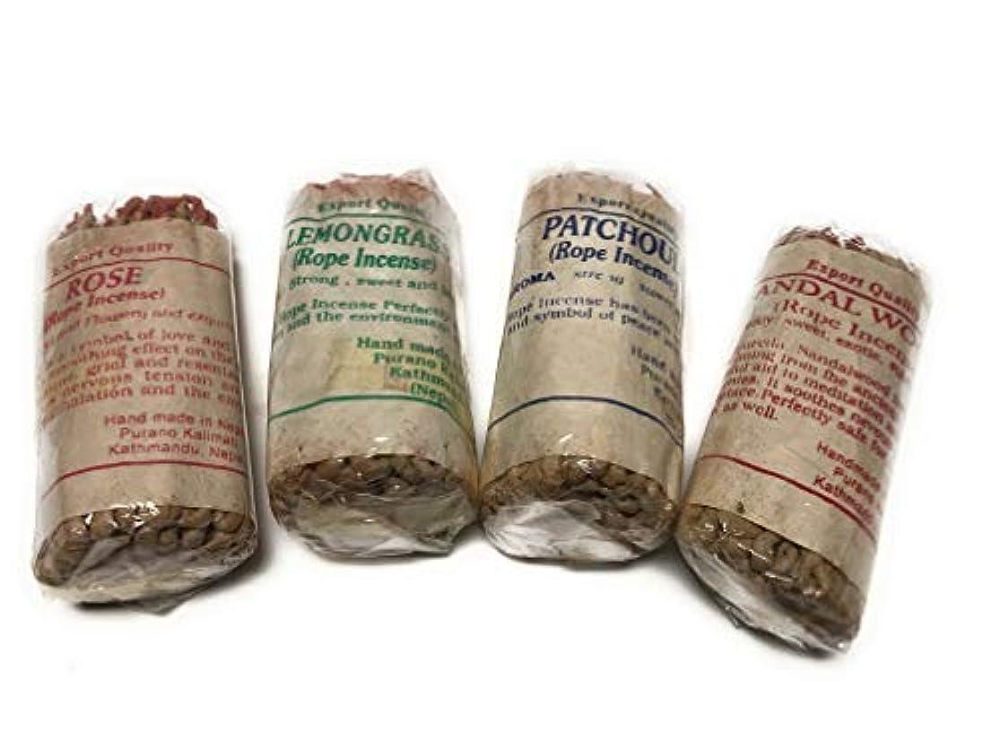 ディレイ溶けるミルクArianna Willow Rope お香 バラエティキット サンダルウッド、レモングラス、パチョリ、ローズを含む