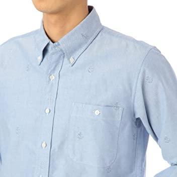 Embroidered Oxford Buttondown Shirt 387-84016: Blue