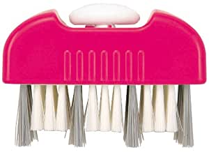 アイワ 風呂掃除 ピンク  まるごと風呂ブタブラシ_2段切り替え式_溝・平面_日本製