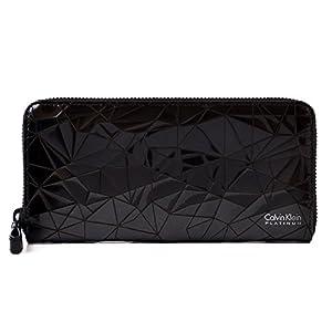 カルバンクライン プラティナム Calvin Klein PLATINUM ラウンドファスナー レザー ウォレット ポリゴン財布 本革 長財布