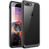 SUPCASE iPhone8 Plus / iPhone7 Plusケース 背面クリア 耐衝撃 アイフォンプラスカバー 黒