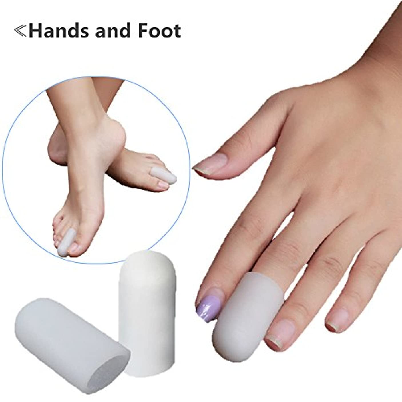 つま先プロテクター ランニング時の足先のつめ保護キャップ,指キャップ,〈2個入〉 (M(3.5cm))