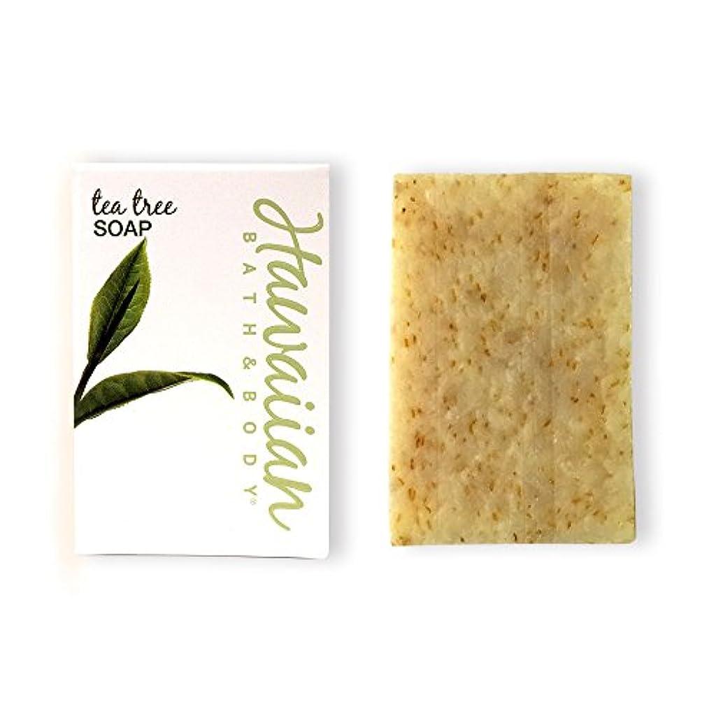 不一致シード真実にハワイアンバス&ボディ ティーツリーソープ(トロピカルブレンド)( Tea Tree Soap )