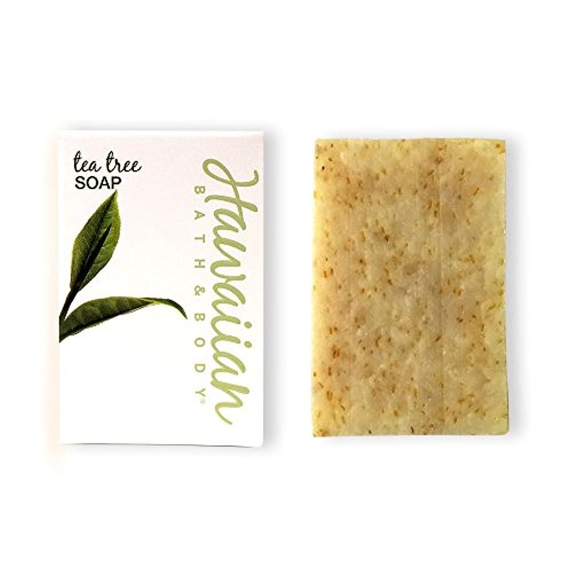波失効平らなハワイアンバス&ボディ ティーツリーソープ(トロピカルブレンド)( Tea Tree Soap )