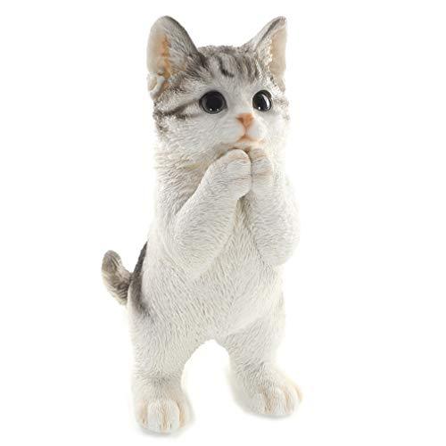 [ファンシー] 誕生日プレゼント 女性 人気 彼女 ネコ サバトラ 父の日 猫 置物 インテリア ガーデニング ガーデンオーナメント 猫 好き な 人 へ の プレゼント 結婚記念日 転居 最適なプレゼント ca76 (サバトラ)