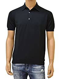 JOHN SMEDLEY(ジョン スメドレー)半袖ニットポロシャツ「STANDARD FIT」ejd16s003(ADRIAN:ブラック)