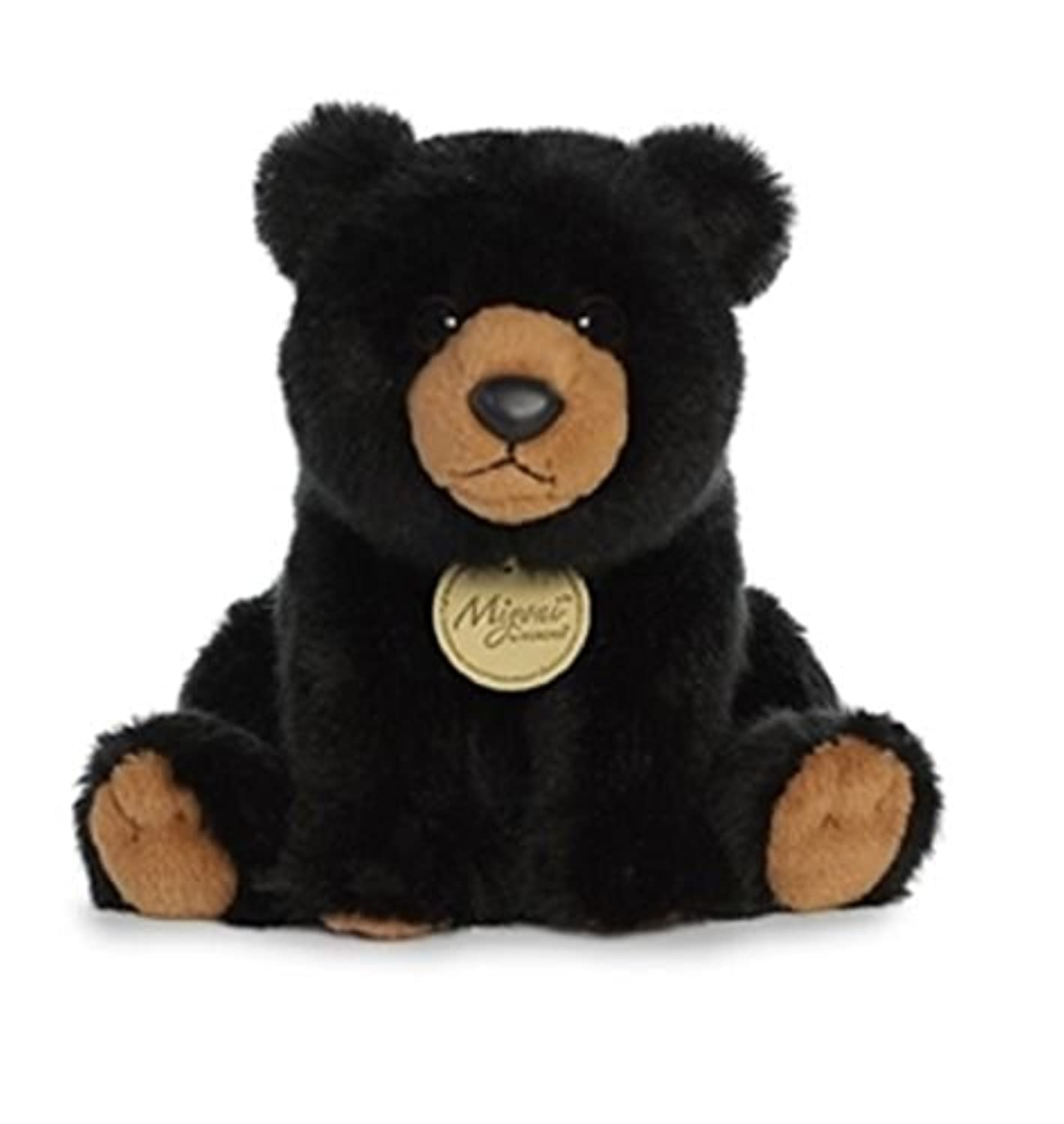 Miyoni SittingブラックBear Plush Stuffed Animal