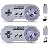 Wireless Controller for SNES Classic Edition/NES Classic Edition, Gamepad with USB Wireless Receiver Can Play with Windows,iO