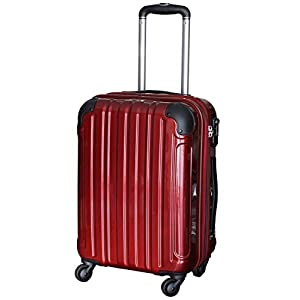 (シェルポッド) shellpod スーツケース HZ-500 SSサイズ 鏡面レッド【SS/RED】