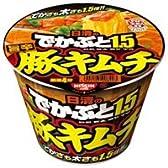 日清食品 でかぶと1.5 旨辛豚キムチ 【12個セット】
