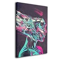 ブルームン パネル 30×40 フレーム アート 人顔 アートフレーム 装飾画 ポスター インテリア 枠なし 絵 モダン 贈り物