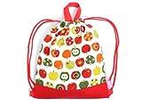 ナップサック 巾着 バッグ おしゃれリンゴのひみつ(アイボリー) N0432300