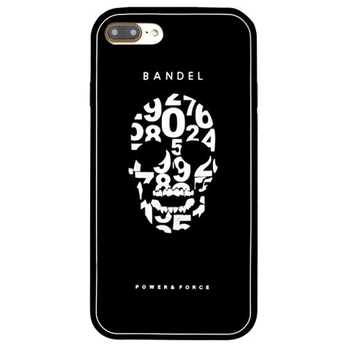 シャイニング人物眠いですバンデル(BANDEL) iPhone7Plusケース スカル ブラック [iPhone7Plus用シリコンケース]