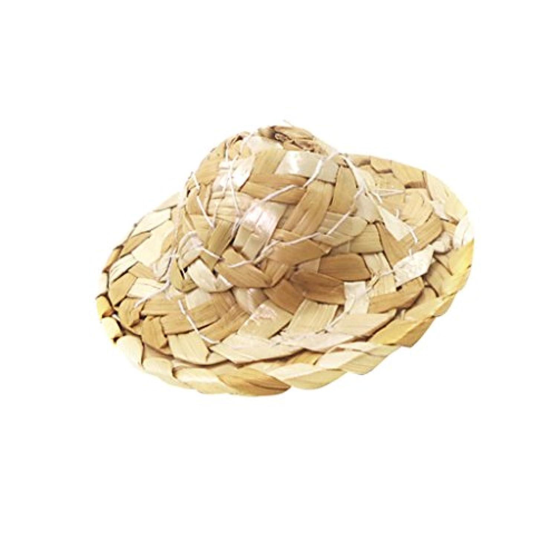 Baoblaze ストローボウラー帽子 ドールハット 1/12ドールハウスアクセサリー