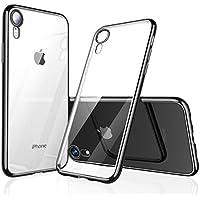 【Humixx】 iPhone XR ケース iPhone XR バンパー [ メタリック 水洗い可 ] [ ワイヤレス充電 対応 ] [ 薄型 軽量 ] [ 気泡防止 擦り傷防止 ] [ おしゃれ 高級感 ] アイフォンX用耐衝撃カバー ( iPhone XR , ブラック )