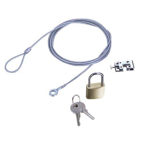 エレコム ノートパソコン&マウス用セキュリティワイヤーロック ESL-3シリーズ 南京錠タイプ