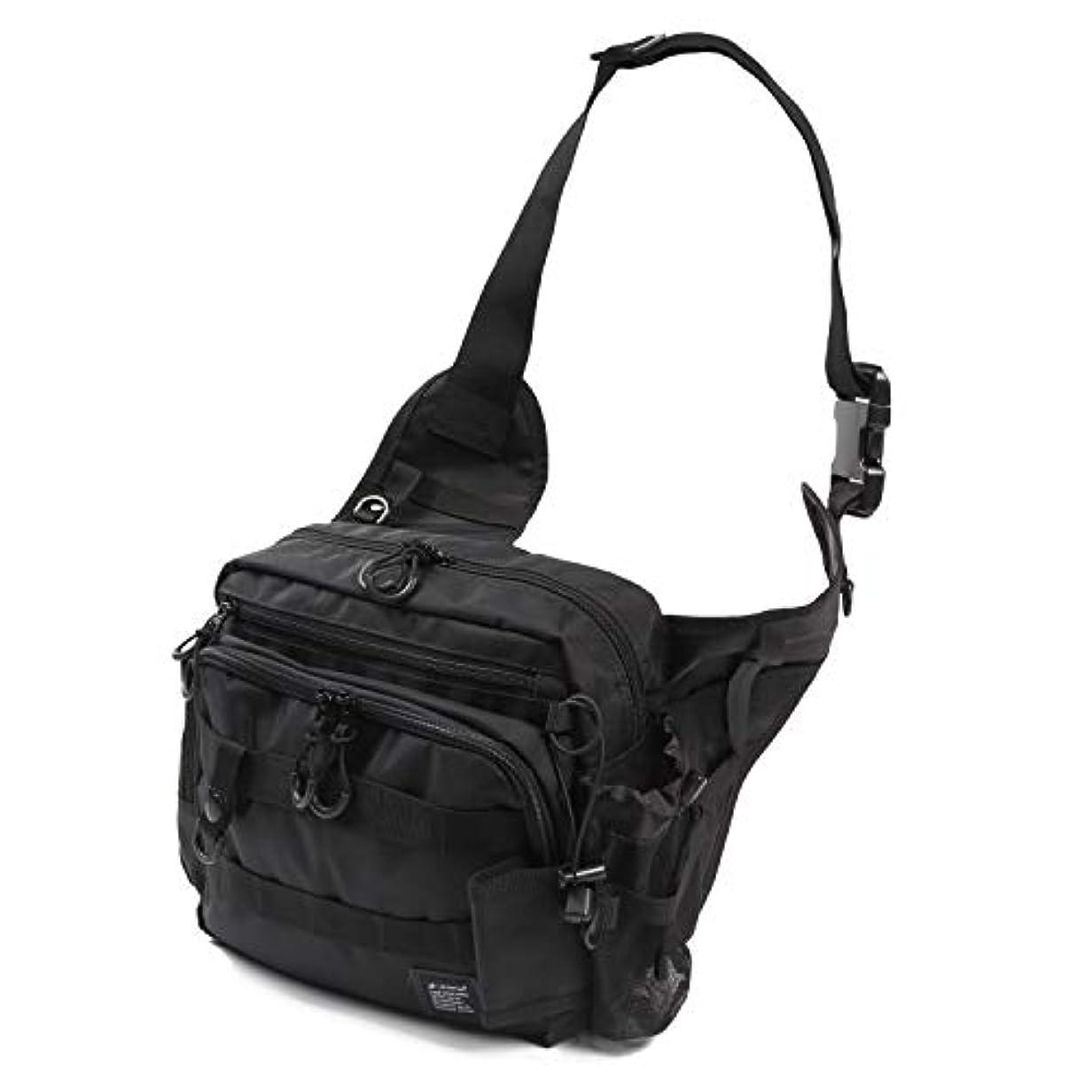 ありそう優しさ忌み嫌うLeastat フィッシングバッグ ロッドホルダー付き 大容量 軽量 ワンショルダー バッグ タックルバッグ ランガン バッグ