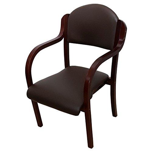 ダイニングチェア 完成品 スタッキングチェア 木製 椅子 肘付 ダイニングチェアー UHE-2-S (ブラウン×ブラウンフレーム, 1脚)