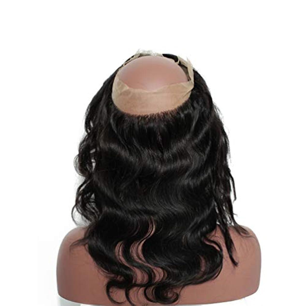 上にインゲンどこにも女性360レースヘアブロック8aブラジル実体波閉鎖人間の髪未処理ブラジルバージンヘア実体波人間の髪