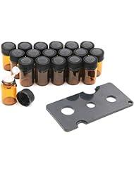 XPdesign アロマ 小分け遮光瓶 アロマオイル 遮光瓶 保存 容器 詰め替え 香水 ボトル 耐熱ガラス (2ml18本セット)